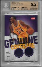 KOBE BRYANT 2008-09 Fleer AUTHENTIC DUAL JSY JERSEY Card BGS 9.5 GEM MINT - HOT!