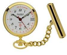Jean Pierre Gold Plated Nurses Fob Watch Quartz Calendar Movement. L554PQ