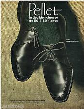 PUBLICITE ADVERTISING 105  1964   PELLET  chausures homme TURF