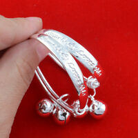 2pcs Children Baby Girls Boys Toddlers Adjustable Size Bracelet Cuff Jewelry