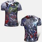 Men Short Sleeve T-shirt Top Marvel Superhero Summer Casual Sport Wear Tee Shirt