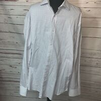 J Crew Mens Navy Gingham Long Sleeve Button Down Shirt Size Large
