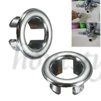 5X Bathroom Basin Sink Spares Round Overflow Cover Tidy Trim Chrome Replacement