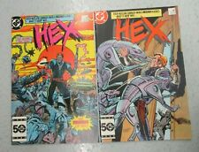 LOT OF 2 HEX #1 & 2 SEPTEMBER 1985 NM NEAR MINT 9.4 JONAH DC COMICS WESTERN RARE