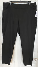 NWT CJ Banks Signature Slimming Ankle Length Pant Shaped Fit Mid-Rise Black 24W