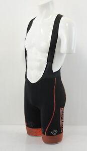 Verge Women's TOR+FL Bib Shorts XS Black/Orange Brand New