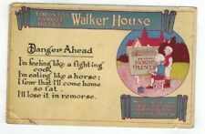 CANADA Toronto Antique Comic Advertising Post Card for Walker House Hotel