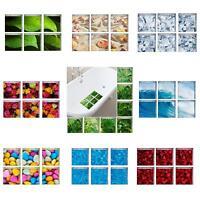 FM- 6Pcs Bath Tub Shower Stickers PVC Decals Non Slip Applique Mural Home Decor