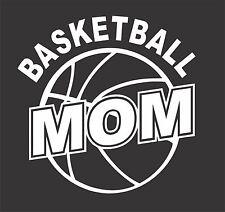 Basketball Mom Sticker 150 mm x 150 mm Marine Grade material.