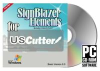 Signblazer Elements V6 US Vinyl Cutter Plotter Sign Making Software