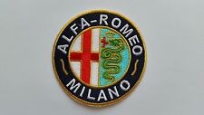MOTOR RACING CAR SPEED FESTIVAL SEW ON / IRON ON PATCH:- ALFA ROMEO (b) MILANO