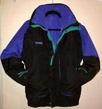 Columbia Sportswear Winter Ski Jacket Youth 18/20 XL 3 Jackets in 1. Black/Blue