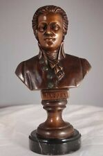 Mozart Bronze Bust Lost Wax Casting with Marble Base