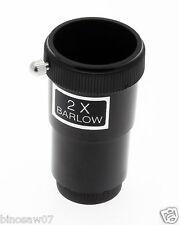 """Lente Barlow 2x estándar (1.25"""" Barril Para Telescopio Astro) duplica ampliación"""