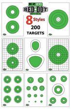 200 Genuine Ez2C Targets for Red Dot Optics ~ Eight Styles Scope Handgun Rifle