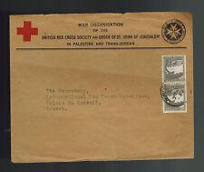 1944 Jerusalem Palestine cover to Red Cross Geneva Switzerland UnCensored