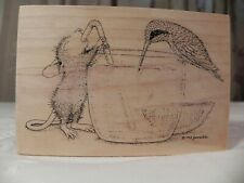 House Mouse Sweet Treat for Two Stampa Rosa #263 wood mounted rubber stamp 1998