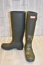 Hunter Original Tour Rain Boot - Women's Size 8 - Olive DAMAGED