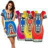 Fashion Women Traditional African Print Dashiki Bodycon Short Sleeve Mini Dress