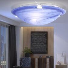 Bureau LED 7 W Plafonnier Salle de séjour lumière verre Ø 30cm Bleu Verre Acier