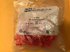 NO. 2 MM BUSHINGS - MM PLASTIC ( MFG.) CO., INC. 25 PIECE RED-LR24719***NEW***