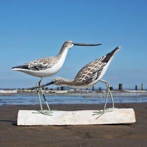 Greenshank | Hand Carved Wooden Birds by Archipelago | D245