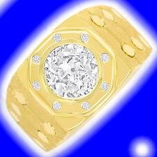 Solitäre Echtschmuck-Ringe aus Gelbgold mit SI Reinheit