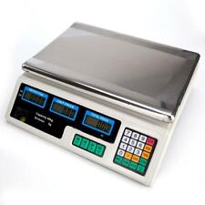 Digital Weight Price Scale 88lb40kg Computing Food Meat Scale Produce Deli