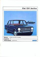 Fiat 124 Berlina / Saloon Portuguese market full colour sales brochure