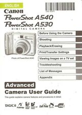 CANON POWERSHOT A530 & A540 DIGITAL CAMERA INSTRUCTION MANUAL -POWER SHOT