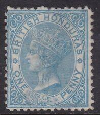 BRITISH HONDURAS 1865 1D PALE BLUE, UNUSED, CAT £95