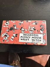 1933 Mickey Mouse Critter Watch Box Rare NR Ingersoll
