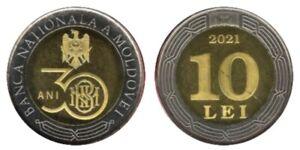 Moldova _ 10 Lei 2021 UNC 30 years of the National Bank of Moldova Lemberg-Zp