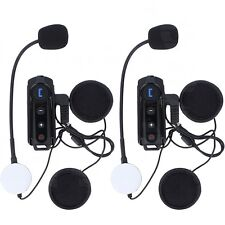 2x 1000m BT-S1 Motorbike Bluetooth Intercom Moto Helmet Headset Interphone+FM UK