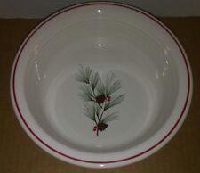 Fiesta® Dinner Ware Vegetable Serving Bowl Christmas Pine Needle & Cones Retired