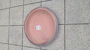 Terracotta Untersetzer, braun glasiert, 47 cm Durchmesser