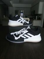 Adidas Marquee Boost Low Top Black White Mens Size 15