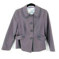 Boden Women's Size 8 US or UK 12 Blazer Jacket Coat Light Soft Purple
