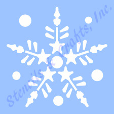 """3"""" SNOWFLAKE STENCIL CHRISTMAS STENCILS TEMPLATE PATTERN TEMPLATES CRAFT NEW #9"""