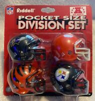 2002 NFL RIDDELL POCKET PRO HELMET DIVISION SET -  NIP - AFC North