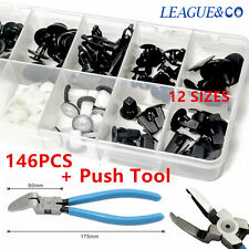 146X Plastic Fender Liner Fastener Rivet Push Clips Retainer For Toyota + PLIER