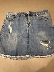 Forever New Blue Denim Mini Skirt Brand New Sz 10