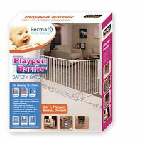 Perma Child Safety 3 IN 1 PLAYPEN BARRIER GATE Upto 3.7m Fits 72-370cm*AUS Brand