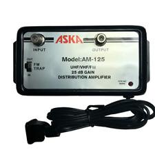ASKA AM-125 25 dB Distribution Amplifier UHF/VHF/FM Booster