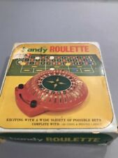 Vintage Handy Roulette Set with 100 Chips. Collectors Item Works Great