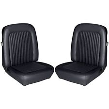 1968 FORD MUSTANG FASTBACK STANDARD BLACK FRONT & REAR SEAT COVERS