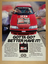 1988 Champion Car Battery saleen mustang scca race car photo vintage print Ad