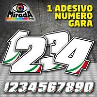 Adesivi / Stickers NUMERO GARA MOTO PISTA AUTO CIRCUITO CARENA CUPOLINO GP SBK
