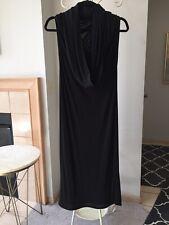 Maison Martin Margiela Paris Black Long Dress Size 40 Made In Italy