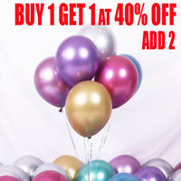 "20 METALLIC LATEX PEARL CHROME BALLOONS 12"" Helium Baloon Party Happy Birthday"